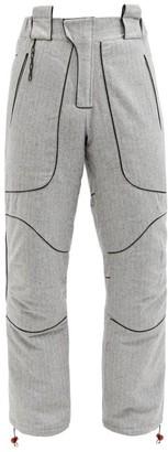 Boramy Viguier Pinstriped Wool-blend Hiking Trousers - Grey