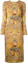 Dolce & Gabbana ecclesiastical print dress