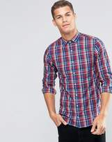Tommy Hilfiger Shirt With Check In Ny Regular Fit Red