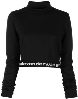 Alexander Wang Logo Band Cropped Top