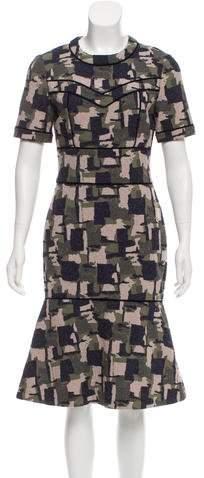 Yigal Azrouel Textured Midi Dress