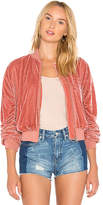 Lovers + Friends x REVOLVE The Leighton Bomber in Rose. - size L (also in M,S,XL,XS)