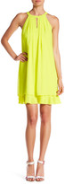 Vince Camuto Pleated Layer Sleeveless A-Line Dress