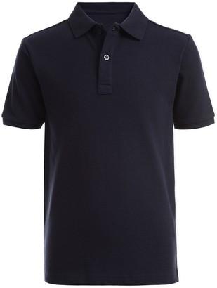 Nautica Short Sleeve Double Pique Polo Uniform Shirt (Big Boys)