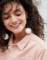 Asos Limited Edition Mermaid Sequin Ball Drop Earrings