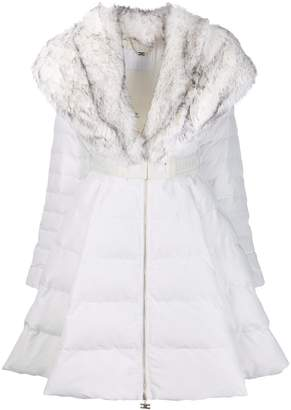 Elisabetta Franchi faux-fur collar coat