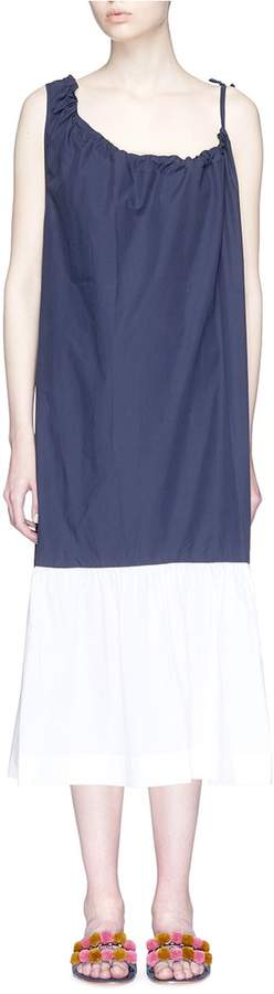 Araks 'Phoenix' asymmetric shirred neckline midi dress