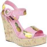 Dolce & Gabbana Pineapple Print Wedge Sandals