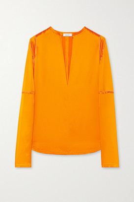 Nina Ricci Silk-satin Blouse - Bright orange