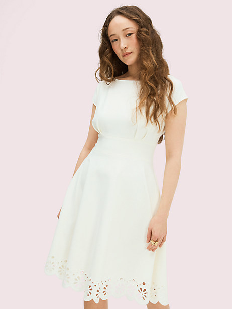 Thumbnail for your product : Kate Spade Eyelet Ponte Fiorella Dress