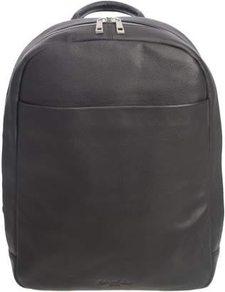 Club Rochelier Leather Slim Backback with Hidden Front Pocket