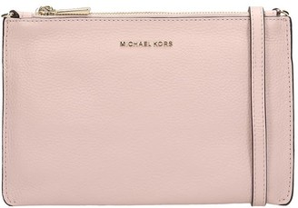 Michael Kors Clutch In Rose-pink Leather