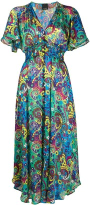 Pinko Paisley Print Dress