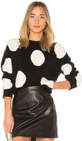 Alice + Olivia Gleeson Polka Dot Sweater