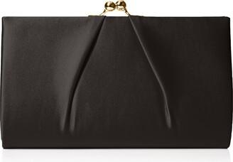Swankyswans Swanky Swans Womens Mira Satin Classic Frame Bag Clutch Black (Black) 5.1x12x20.8 cm (W x H x L)