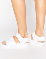 adidas White Adilette Strappy Sandals