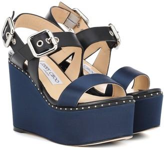 Jimmy Choo Alton 100 leather sandals
