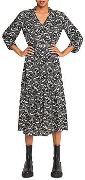 BA&SH ba & sh Song Printed Midi Dress