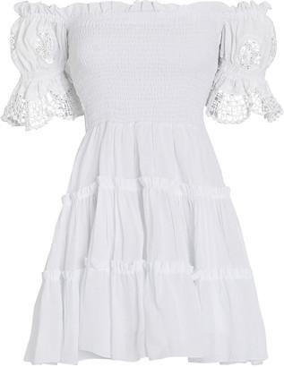 Charo Ruiz Ibiza Nancy Off-the-Shoulder Cotton Dress