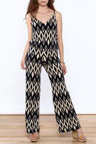 Viereck Navy Print Sleeveless Jumpsuit