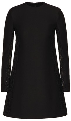 Valentino Lace-Insert Mini Dress