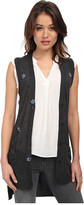 Vera Wang Sleeveless Vest w/ Scattered Swarovski Embellishment