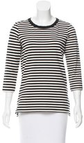 Kate Spade Cutout Accented Striped Top