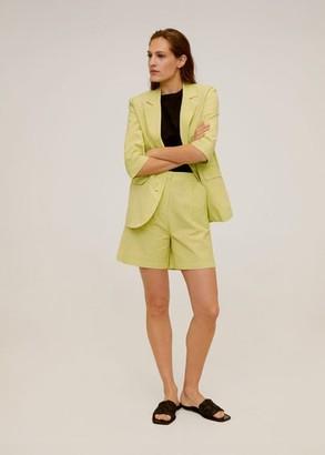 MANGO Medium sleeve blazer lime - L - Women