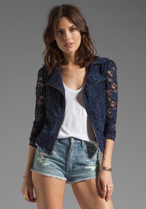 Donna Mizani Passion Lace Moto Jacket