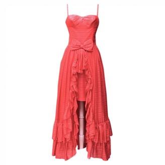 Jean Louis Scherrer Jean-louis Scherrer Red Silk Dress for Women Vintage