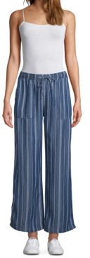 John Paul Richard Striped Drawstring-Waist Pants