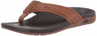 Reef Men's Leather Ortho-Spring Flip-Flop