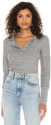 Splendid Henley Long Sleeve Top
