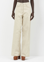 Dries Van Noten Natural Picabis Cotton Pant