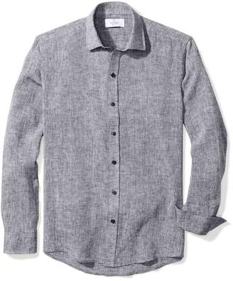 Buttoned Down Men's Slim Fit Spread-Collar Dress Casual Shirt