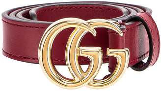Gucci GG Marmont Belt in New Cherry Red | FWRD