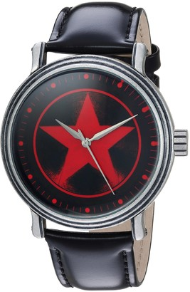 Marvel Men's Avengers Analog-Quartz Watch with Leather-Synthetic Strap
