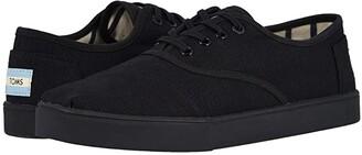 Toms Cordones Cupsole (Black/Black Heritage Canvas Cupsole) Men's Slip on Shoes