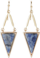 pannee Lapis Triangle Earrings