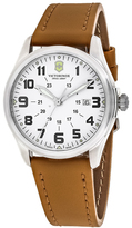 Swiss Army Infantry 241581 Men's Brown Leather Calfskin and Stainless Steel Watch
