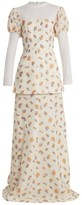 Emilia Wickstead Clemmie Tulle-panel Cloque Gown - Womens - Ivory Multi
