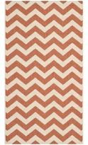 """Mullen Terracotta/Beige Indoor/Outdoor Area Rug Ebern Designs Rug Size: Rectangle 2'7"""" x 5'"""