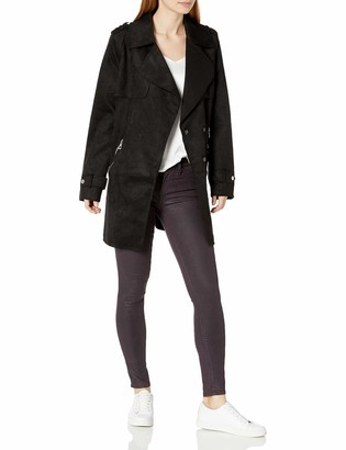 Urban Republic Women's Juniors Faux Sueded NEOPREN Jacket