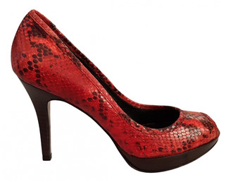 Minelli Red Leather Heels