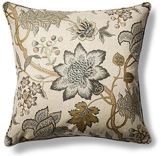 Barclay Butera Jacobean Flair 22x22 Throw Pillow - Gold