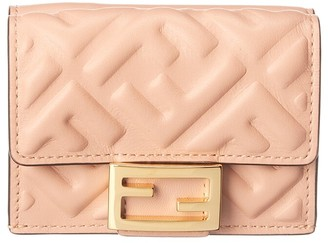 Fendi Micro Trifold Leather French Wallet