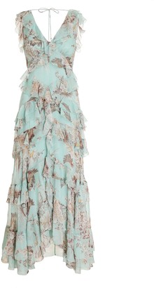 Zimmermann Glassy Frilled Midi
