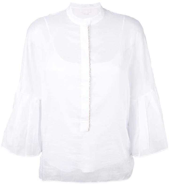 Genny ruffled sleeve blouse