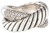 David Yurman Diamond Cable Crossover Ring
