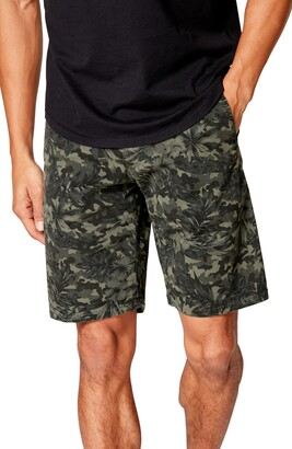Good Man Brand Monaco Slim Fit Camo Floral Flat Front Shorts